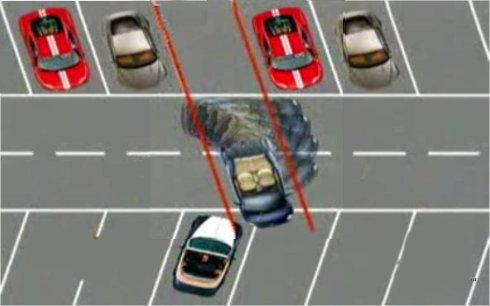 图解:三招让新手变成停车高手 第9张-库车驾校排名-报名电话-价格表-考驾照流程-科目考试技巧