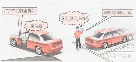 倒车操作方法(组图) 第2张-库车驾校排名-报名电话-价格表-考驾照流程-科目考试技巧
