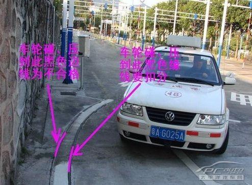 科目二考试之曲线行驶技巧及流程图解 第3张-库车驾校排名-报名电话-价格表-考驾照流程-科目考试技巧