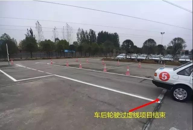 科目二侧方停车技巧,6张图简单应对 第8张-库车驾校排名-报名电话-价格表-考驾照流程-科目考试技巧